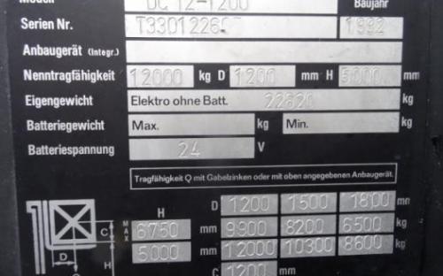 Kalmar DC-12 1200 Containerstapler